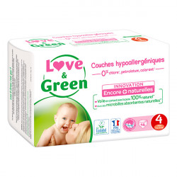 LOVE&GREEN - Couches hypoallergéniques - Innovation naturelle - 4 - 46 couches