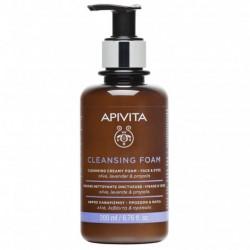 APIVITA - Cleansing foam - Mousse nettoyante - Visage et yeux - 200ml