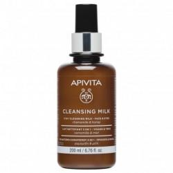 APIVITA - Cleansing milk - Lait nettoyant 3 en 1 - Visage et yeux - 200ml
