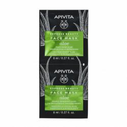 APIVITA - Face mask - Aloe - Masque hydratant et rafraîchissant visage - 2x8ml