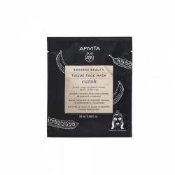 APIVITA - Tissue face mask - Carob - Masque detoxifiant et purifiant - Caroube - 20ml