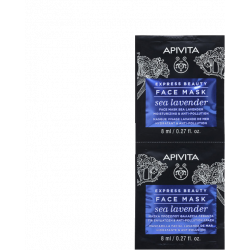 APIVITA - Face mask - Sea lavender - Masque lavande de mer - Hydratant et anti-pollution - 2x8ml