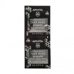 APIVITA - Face mask - Propolis - Masque visage noir - Purifiant - 2x8ml