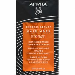 APIVITA - Hair mask - Orange - Masque capillaire orange - Énergie et brillance - 20ml