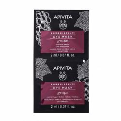 APIVITA - Eye mask - Grape - Masque pour les yeux raisin - Lissant rides - 2x2ml
