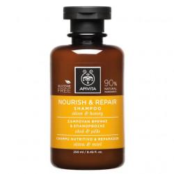 APIVITA - Shampooing nourrit et répare - Olive et miel - 250ml