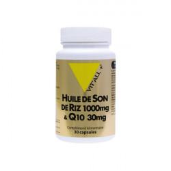 Vit'all+ huile de son de riz 1000mg & Q10 30mg 30 capsules