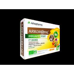 ARKOPHARMA - Arkoroyal - Immunité fort - Gelée royale - Goût miel - 20 ampoules de 10ml
