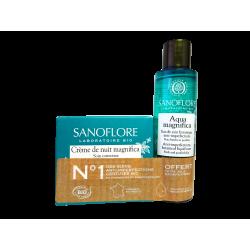SANOFLORE - Crème de nuit magnifica 50ml + Aqua magnifica 50ml - Anti-imperfections