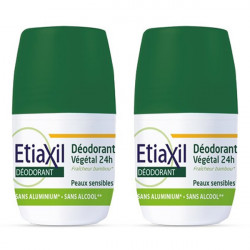 Cooper etiaxil déodorant végétal 24h roll-on 2x50ml