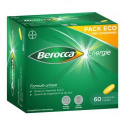 BAYER - Berocca - Énerfie - Pack eco - Formule unique - 60 compirmés