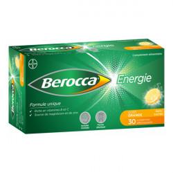 Bayer berocca énergie goût orange 30 comprimés effervescents