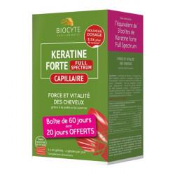 Biocyte keratine forte full spectrum 120 gélules
