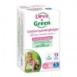 Love & green culottes hypoallergéniques taille 5 junior x18