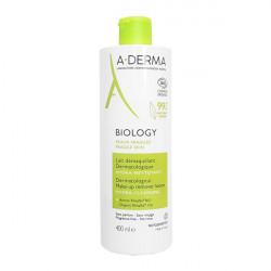 A-derma bio biology lait démaquillant hydra-nettoyant 400ml