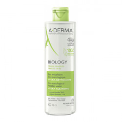 A-derma biology eau micellaire dermatologique hydra-nettoyante 400ml