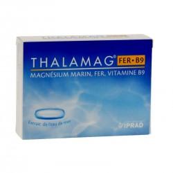 THALAMAG Vitalité - Magnésium Marin, Fer et Vitamine B9 - 30 gélules