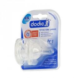 DODIE - Initiation+ 1er âge - Duo de tétines rondes 3 vitesses Anti-colique - 1 Débit lent - Col large - 0 à 6 mois