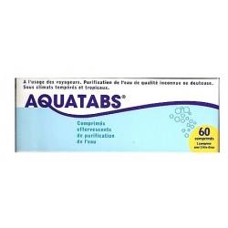 AQUATABS - Comprimés effervescents de purification de l'eau - 60 comprimés