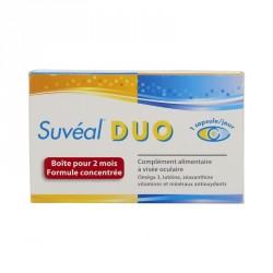 SUVÉAL DUO - Complément alimentaire à visée oculaire - Maintien d'une vision normale - Format 2 mois - 60 capsules
