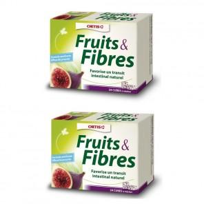 ORTIS - Fruits & Fibres - Transit facile - 2x24 cubes à mâcher