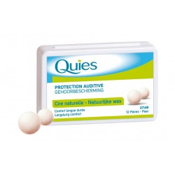 QUIES - Protection auditive - Cire naturelle - 27dB - 12 paires