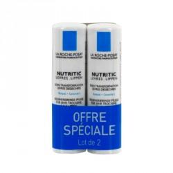 LA ROCHE-POSAY - Nutritic - Soin transformation - Lèvres desséchées - 2 x 4.7ml