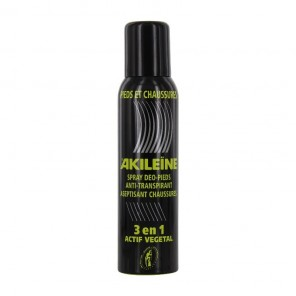 AKILEINE - Spray anti-transpirant et aseptisant - Pieds et Chaussures - 150ml