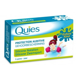 QUIES - Protection auditive - Enfant - Silicone natation - 3 paires