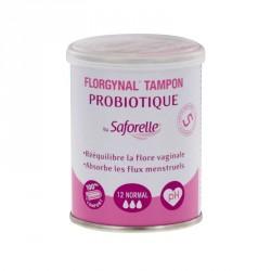 SAFORELLE - Florgynal tampon - Probiotique - Normal - 12 tampons