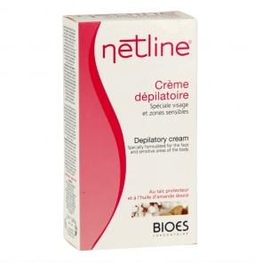 NETLINE - Crème Dépilatoire - Spéciale visage et zones sensibles - 75ml