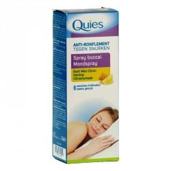 QUIES - Anti-ronflement - Spray buccal - Goût miel citron - 70ml